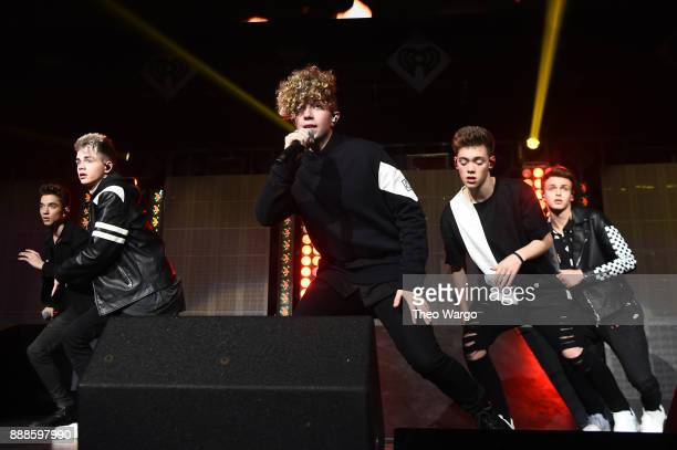 Why Don't We performs at Z100's Jingle Ball 2017 on December 8 2017 in New York City