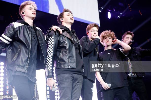 Why Don't We performs during the 2017 Hot 995 Jingle Ball on December 11 2017 in Washington DC