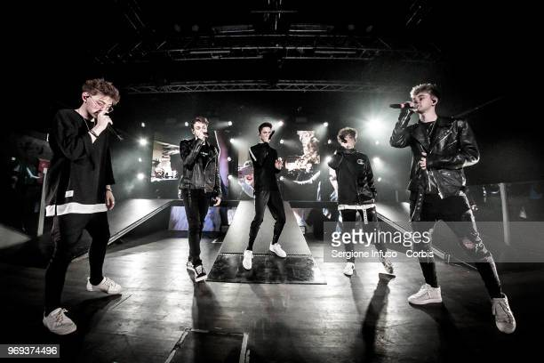 Why Don't We performs on stage at Magazzini Generali on June 7 2018 in Milan Italy