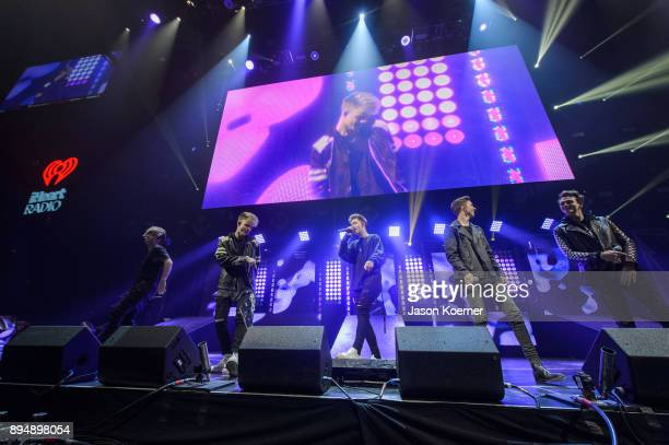 Why Don't We performs on stage at the IHeartRadio Jingle Ball 2017 at BBT Center on December 17 2017 in Sunrise Florida