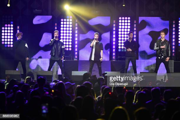 Why Don't We performs onstage at the Z100's Jingle Ball 2017 on December 8 2017 in New York City