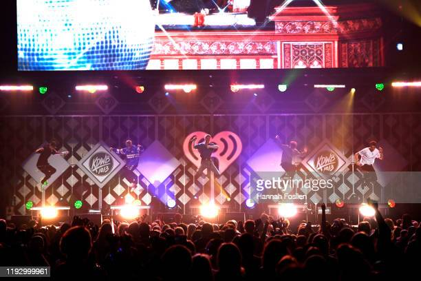 Why Don't We performs onstage during 1013 KDWB's Jingle Ball 2019 Presented by Capital One at Xcel Energy Center on December 9 2019 in St...
