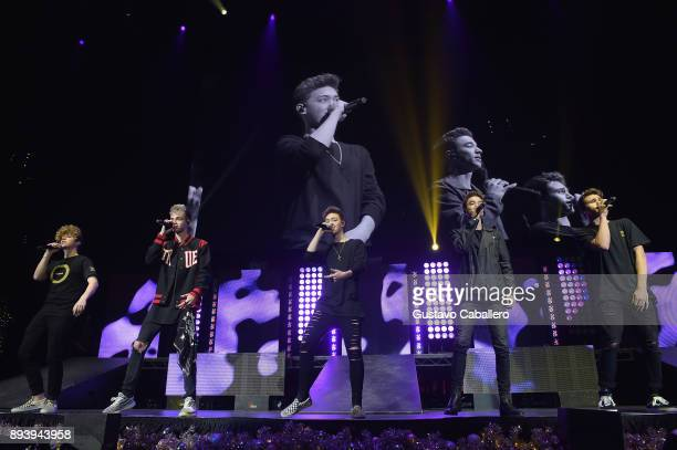 Why Don't We performs onstage during 933 FLZ's Jingle Ball 2017 at Amalie Arena on December 16 2017 in Tampa Florida