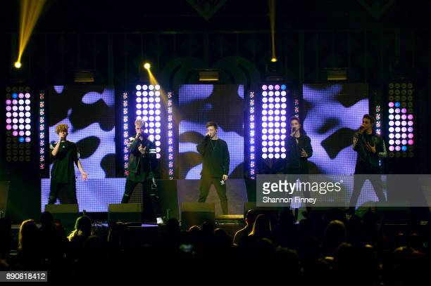 Why Don't We performs onstage during Hot 995's Jingle Ball 2017 Presented by Capital One at Capital One Arena on December 11 2017 in Washington DC