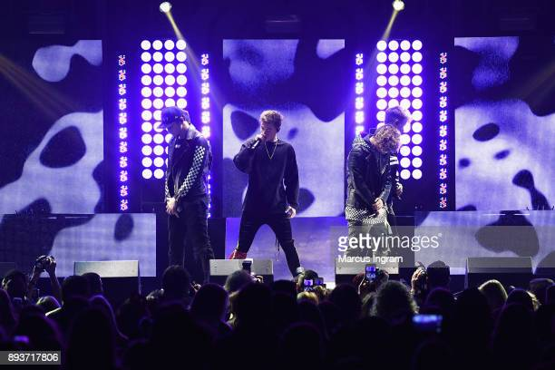 Why Don't We performs onstage during Power 961's Jingle Ball 2017 Presented by Capital One at Philips Arena on December 15 2017 in Atlanta Georgia