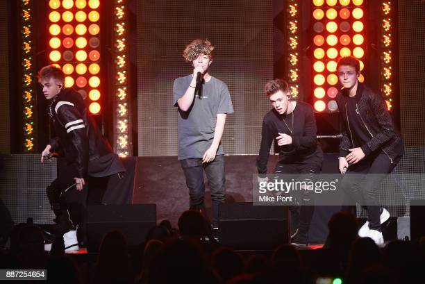 Why Don't We performs onstage during Q102's Jingle Ball 2017 Presented by Capital One at Wells Fargo Center on December 6 2017 in Philadelphia...