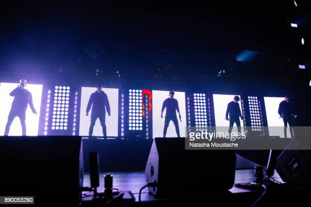 Why Don't We performs onstage during the KISS 108's Jingle Ball 2017 presented by Capital One at TD Garden on December 10 2017 in Boston Massachusetts