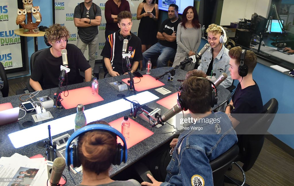 Why Don't We Visit 'The Elvis Duran Z100 Morning Show' at Z100 Studio on August 23, 2017 in New York City.