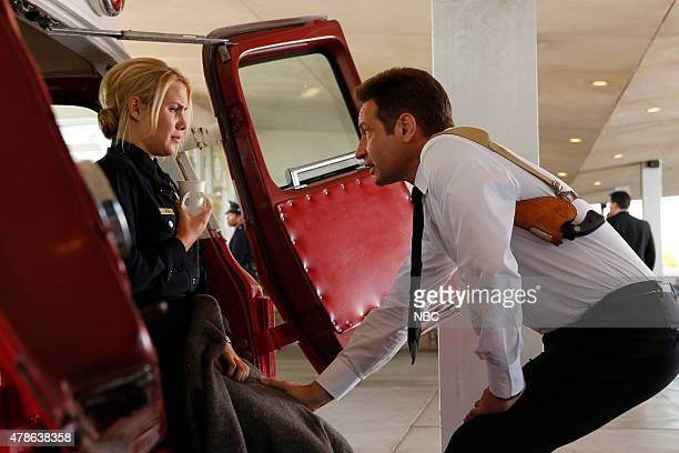 AQUARIUS 'Why' Episode 109 Pictured Claire Holt as Charmain Tully David Duchovny as Sam Hodiak