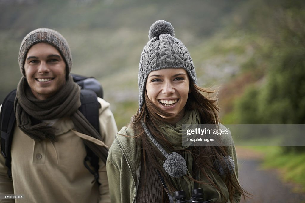 Why not get a breath of crisp winter air? : Stock Photo