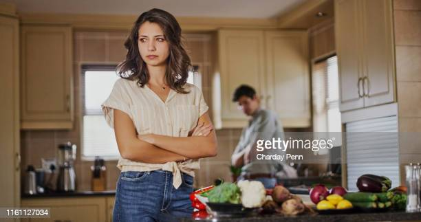 why should i cook for someone who's always criticizing my food! - fighting stock pictures, royalty-free photos & images