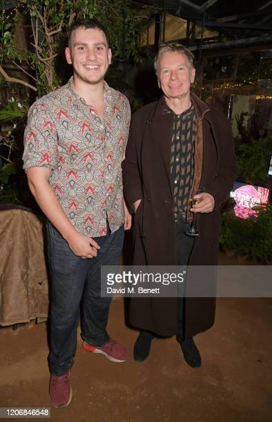 whynow Founder Gabriel Jagger and Julien Temple attend the launch of new positive media platform 'whynow' at Petersham Nurseries on March 12 2020 in...