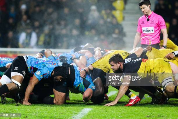 Wiaan Liebenberg of La Rochelle during the European Challenge Cup match between La Rochelle and Zebre at Stade Marcel Deflandre on January 11 2019 in...
