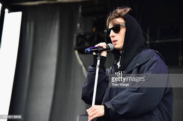 Machine Gun Kelly performs onstage during Day 2 of Billboard Hot 100 Festival 2018 at Northwell Health at Jones Beach Theater on August 19 2018 in...