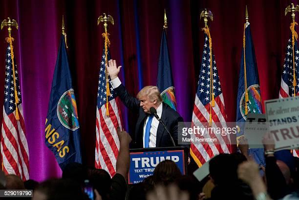Wichita Kansas USA 5th March 2016 Presidential Candidate Donald Trump addresses the Kansas State Republican caucus today in WIchita Kansas Credit...