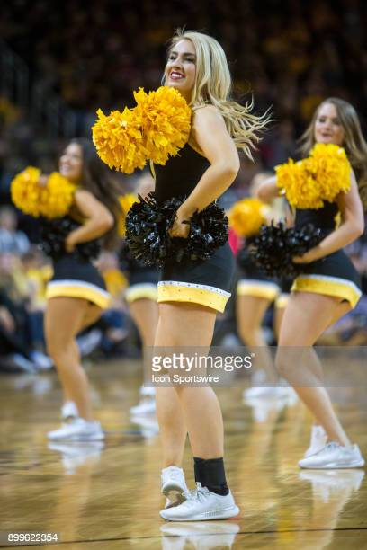 Wichita State Shockers cheerleaders during the college mens basketball game between the Oklahoma Sooners and the Wichita State Shockers on December...