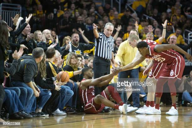 Wichita State Shockers crowd reacts to a call by the official during the college mens basketball game between the Oklahoma Sooners and the Wichita...