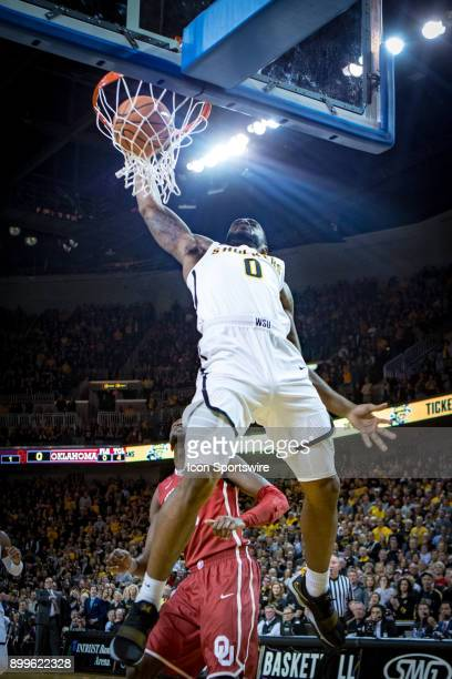 Wichita State Shockers forward Rashard Kelly dunks during the college mens basketball game between the Oklahoma Sooners and the Wichita State...
