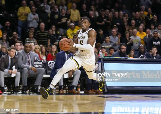 Wichita State Shockers forward Trey Wade drives for a layup in the first half of an AAC basketball game between the Cincinnati Bearcats and Wichita...