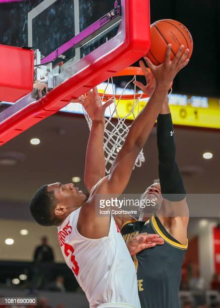 Wichita State Shockers guard Dexter Dennis denies Houston Cougars guard Armoni Brooks during the basketball game between the Wichita State Shockers...