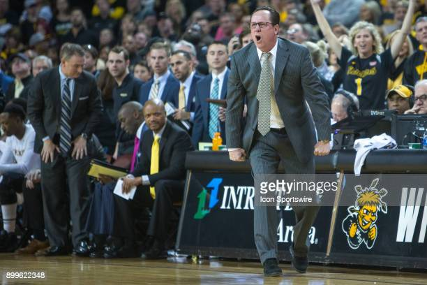 Wichita State Shockers head coach Gregg Marshall during the college mens basketball game between the Oklahoma Sooners and the Wichita State Shockers...