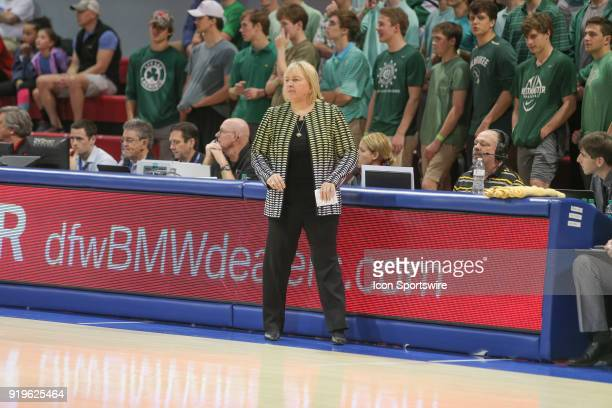 Wichita State Shockers head coach Keitha Adams looks on during the game between SMU and Wichita State on February 17 2018 at Moody Coliseum in Dallas...