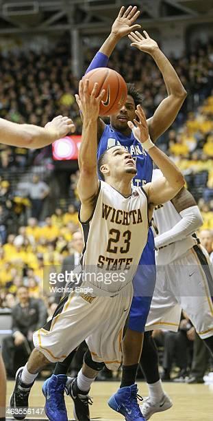 Wichita State's Fred VanVleet puts up a shot against Indiana State's in the second half at Koch Arena in Wichita Kan Saturday Jan 18 2014 Wichita...