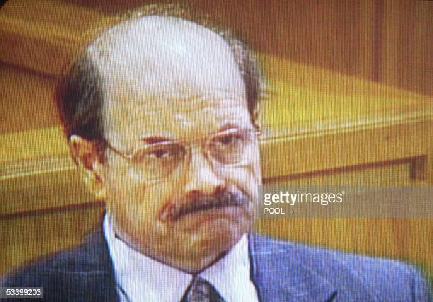 In this image taken from video Dennis Rader the admitted BTK serial killer sits in court on the first day of his sentencing at the Sedgwick County...