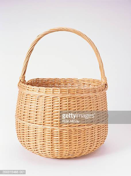 Wicker basket, studio shot
