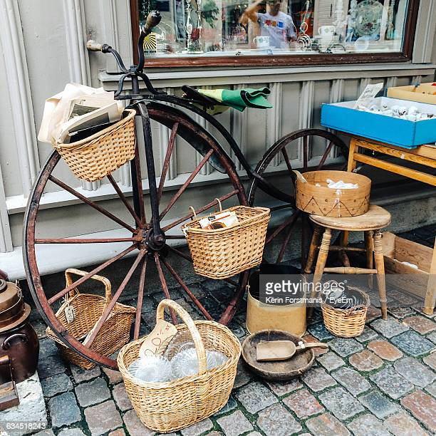 Wicker Baskets For Sale At Flea Market
