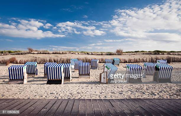 Wicker beach chairs