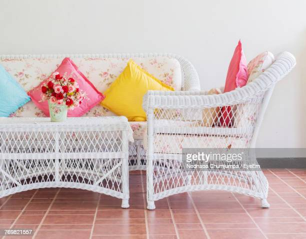 wicker furniture at home - wicker stock pictures, royalty-free photos & images