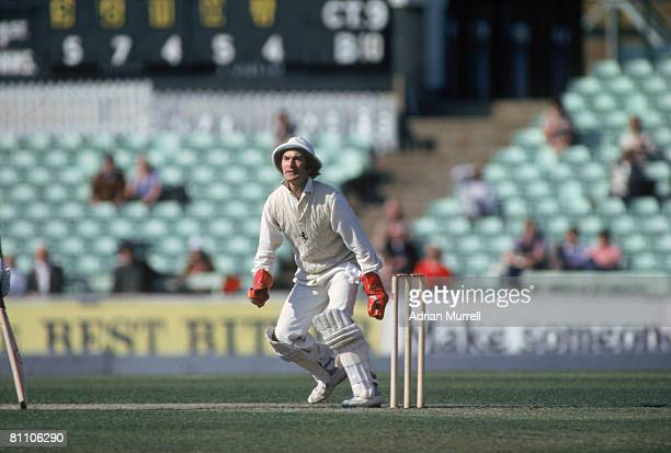 Wicketkeeper Alan Knott of Kent CCC in action against Surrey at The Oval London May 1980