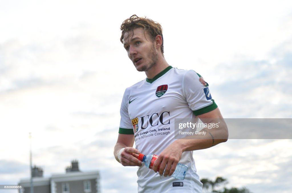 Wicklow , Ireland - 12 August 2017; Kieran Sadlier of Cork City during the Irish Daily Mail FAI Cup first round match between Bray Wanderers and Cork City at the Carlisle Grounds in Bray, Co. Wicklow.