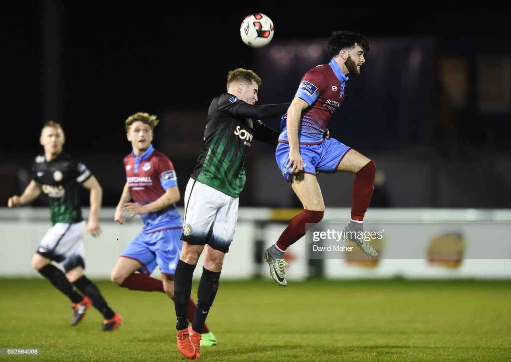 Wicklow , Ireland - 13 March 2017; Adam Wixted of Drogheda United in action against Ryan Robinson of Bray Wanderers during the SSE Airtricity League Premier Division match between Bray Wanderers and Drogheda United at the Carlisle Grounds in Bray, Co Wicklow.