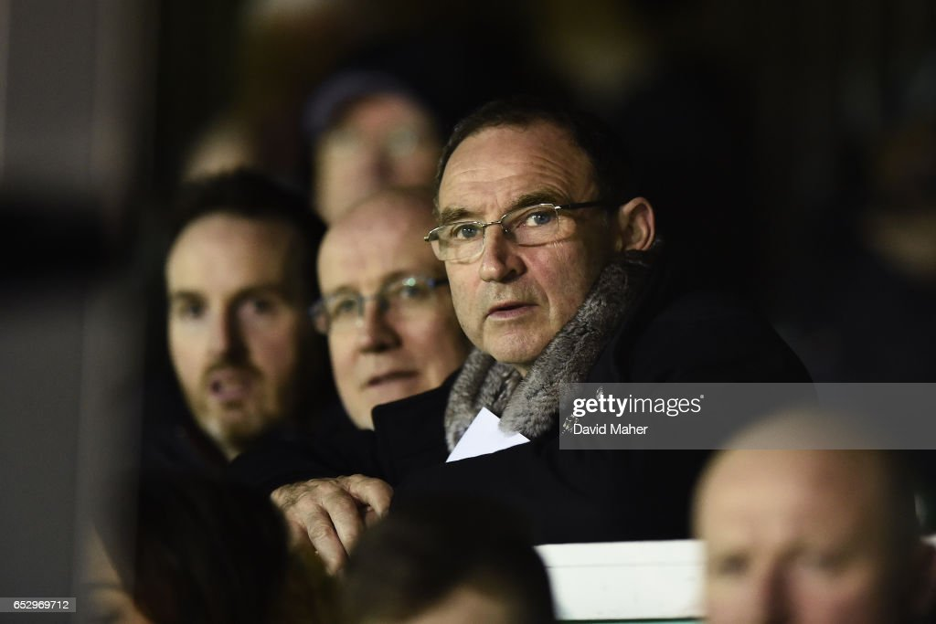 Wicklow , Ireland - 13 March 2017; Republic of Ireland manager Martin O'Neill watches on during the SSE Airtricity League Premier Division match between Bray Wanderers and Drogheda United at the Carlisle Grounds in Bray, Co Wicklow.