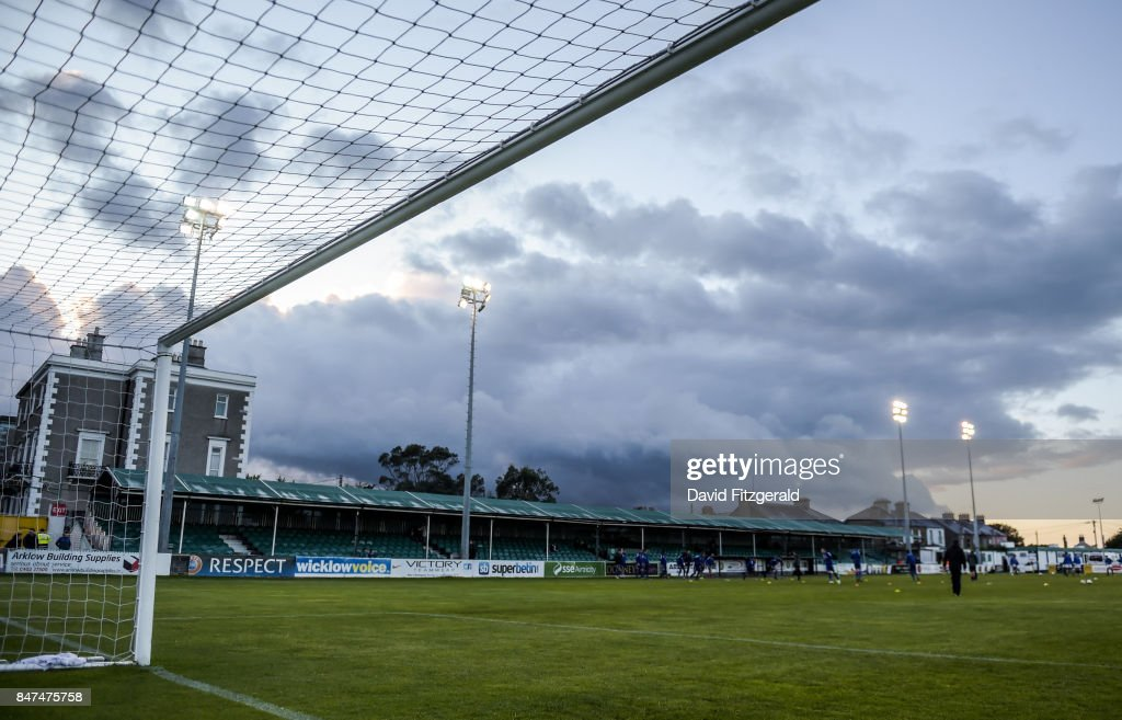 Wicklow , Ireland - 15 September 2017; A general view of the pitch ahead of the SSE Airtricity League Premier Division match between Bray Wanderers and Limerick FC at the Carlisle Grounds in Wicklow.