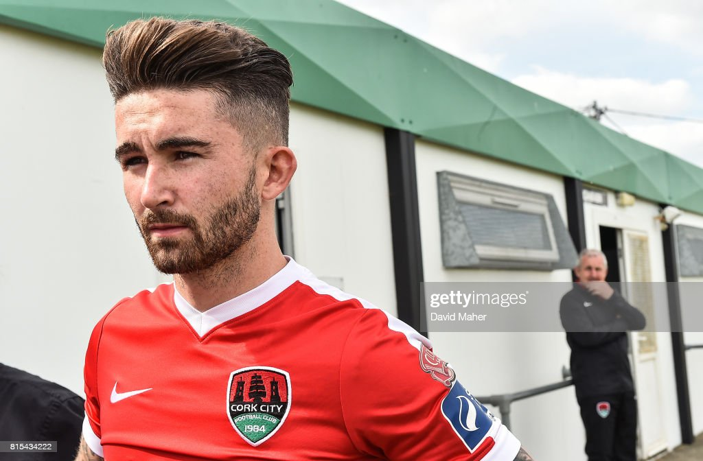 Wicklow , Ireland - 16 July 2017; Sean Maguire of Cork City before the start of the SSE Airtricity League Premier Division match between Bray Wanderers and Cork City at the Carlisle Grounds in Bray, Co. Wicklow.