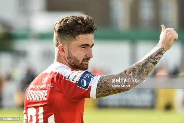 Wicklow Ireland 16 July 2017 Sean Maguire of Cork City waves to the supporters for his last appearance for Cork City during SSE Airtricity League...