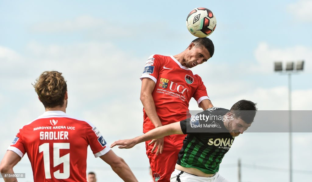 Wicklow , Ireland - 16 July 2017; Shane Griffen of Cork City in action against Ryan Brennan of Bray Wanderers during the SSE Airtricity League Premier Division match between Bray Wanderers and Cork City at the Carlisle Grounds in Bray, Co. Wicklow.