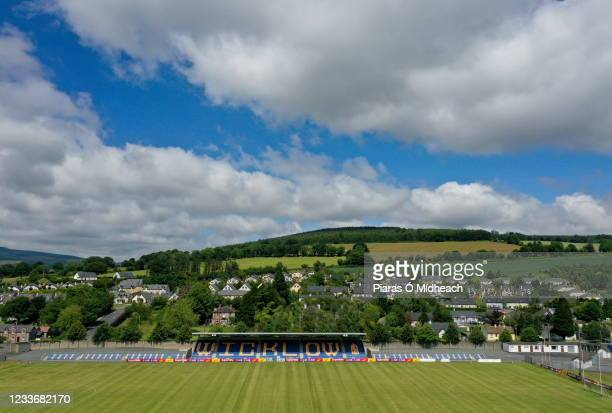 Wicklow , Ireland - 27 June 2021; A general view of the pitch before the Leinster GAA Football Senior Championship Round 1 match between Wicklow and...