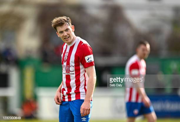 Wicklow , Ireland - 28 March 2021; Jack Lynch of Treaty United during the SSE Airtricity League First Division match between Bray Wanderers and...