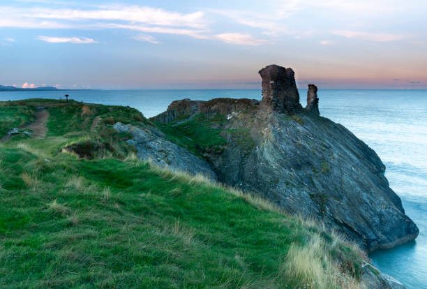 Wicklow, Ireland - Ruins of Black castle in Wicklow town, built in the late 12th century and attacked by rival clans many times over the following centuries before being finally demolished in 1646.