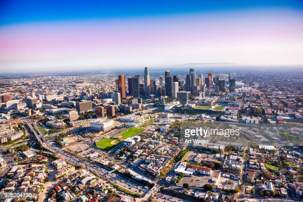 Wide Angle Aerial of Los Angeles California