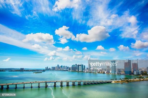 Weitwinkel-Luftbild von Miami Florida