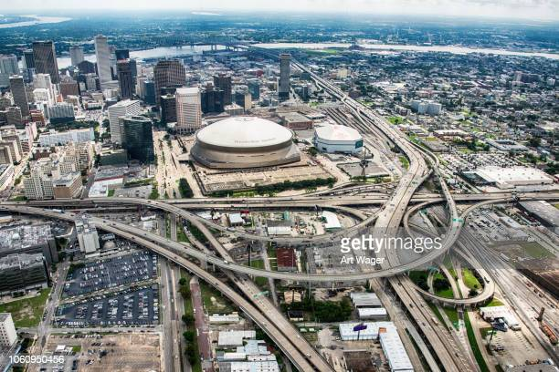 Wide Angle New Orleans Cityscape