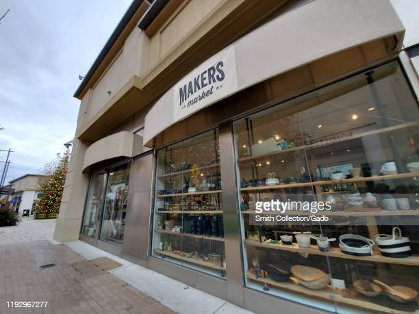Wide angle of facade of Makers store in Walnut Creek, California, December 6, 2019.