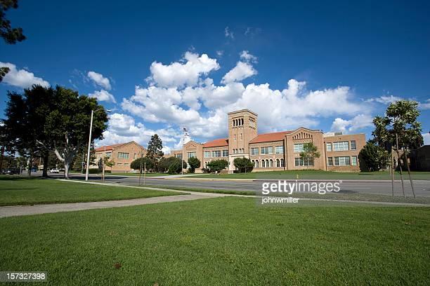 Wide Angle School Facade