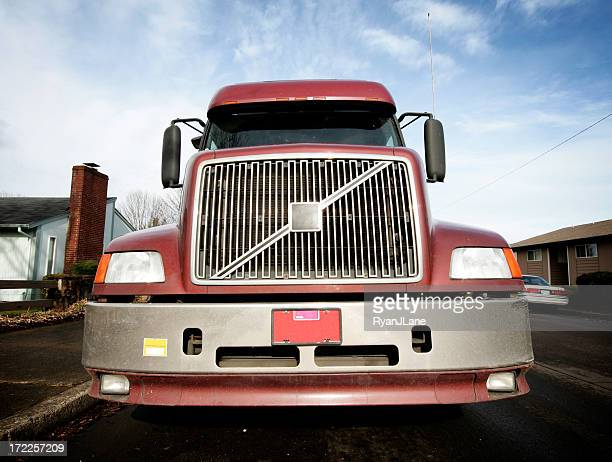 Wide Angle Semi Truck with Copy Space