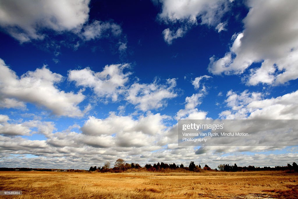 Wide Angle Sky and Clouds : Stock Photo